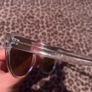 Cole Haan Clear Framed brown/gold lens sunglasses